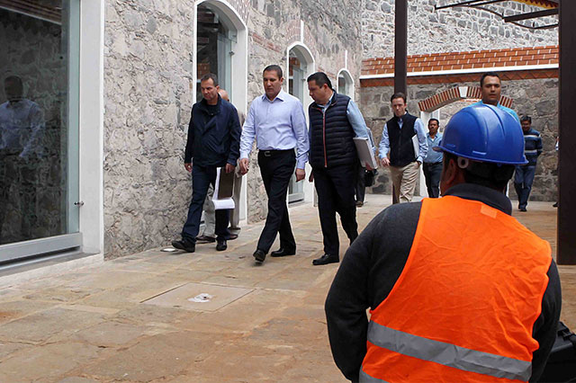 Supervisa RMV construcción de CIS en expenitenciaría