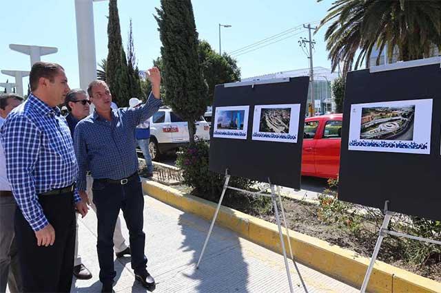 Supervisa RMV avance de obras en Bulevar Hermanos Serdán y BINE