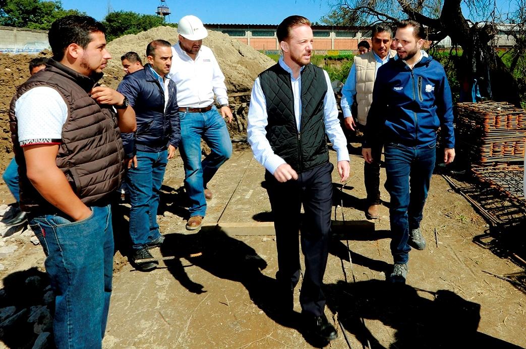 En Central de Abasto avanza Planta de tratamiento de aguas residuales