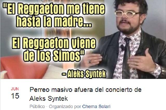 Lanzan éxitos de Aleks Syntek en reguetón y organizan perreo masivo para su concierto