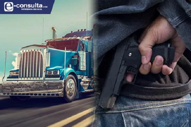 Puebla en el top 5 de robo con violencia a transporte de carga