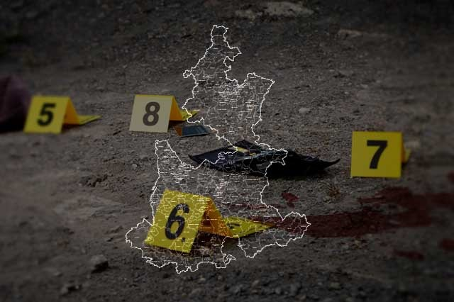Registra Puebla tres homicidios dolosos por día, según el SNSP