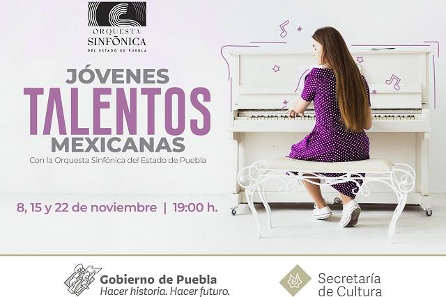 Presentará Secretaría de Cultura conciertos de jóvenes mexicanas