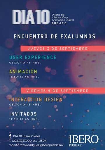 Talleres y conferencias en X aniversario de licenciatura en Diseño Ibero