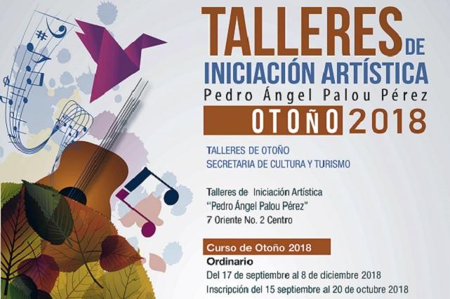 Abre Secretaría de Cultura inscripción para talleres de iniciación artística