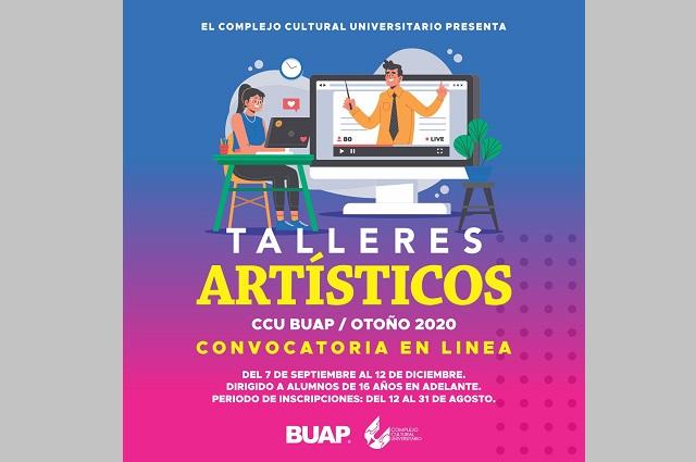 CCU BUAP abre talleres artísticos en línea para jóvenes y adultos