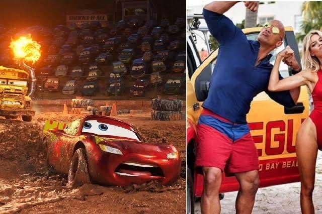 Cars 3 y Guardianes de la bahía debutan con éxito en taquilla en México