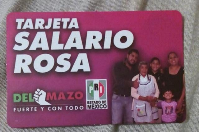 Exige Morena en Edomex frenar reparto de tarjeta del Salario Rosa