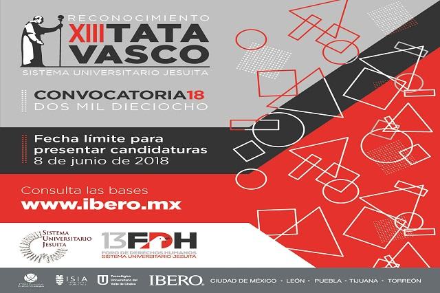 Presentan convocatoria para el XIII Reconocimiento Tata Vasco