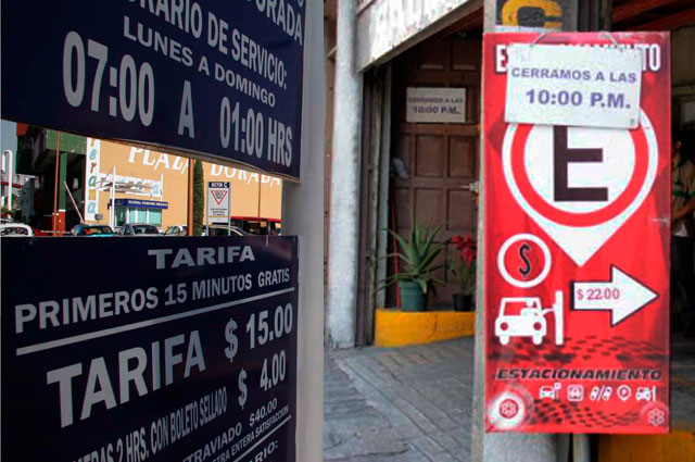 Hasta 50% quieren reducir tarifa de estacionamientos en Puebla