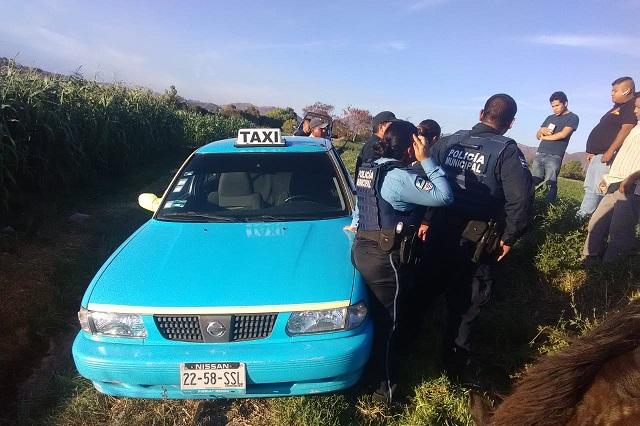 Se registra primer asalto a taxista del 2020 en Atlixco