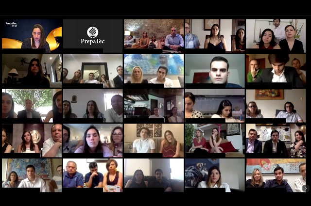 Ceremonia virtual por fin de ciclo escolar en la PrepaTec