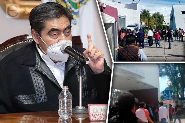 Barbosa condena plantón de docentes y niega acuerdos