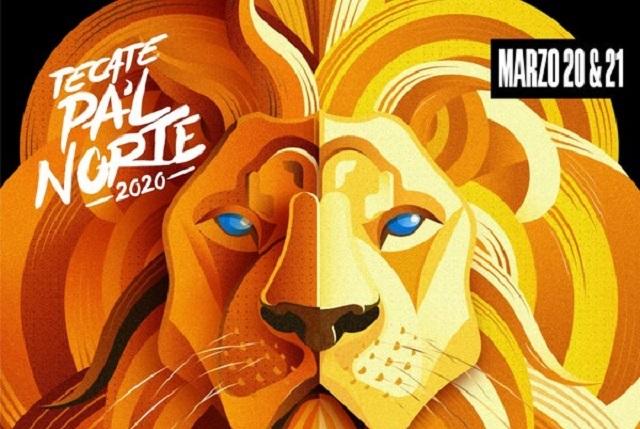 Este es el cartel oficial del Festival Tecate Pa'l Norte 2020