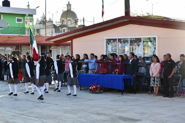 Inicia Ayuntamiento de Coronango techado en telesecundaria de Zoquiapan