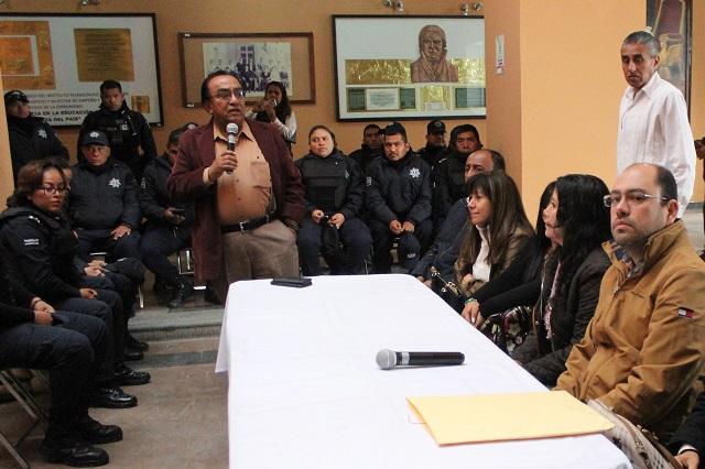 Quitan a director de seguridad de Tehuacán por quejas de policías