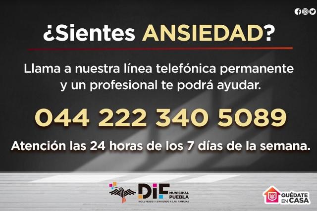 Activan línea telefónica para casos de ansiedad en Puebla