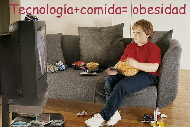 La relación entre ver televisión y los kilos de más