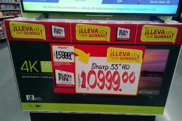 Buen Fin: Walmart vende por error televisiones en 1,099 pesos