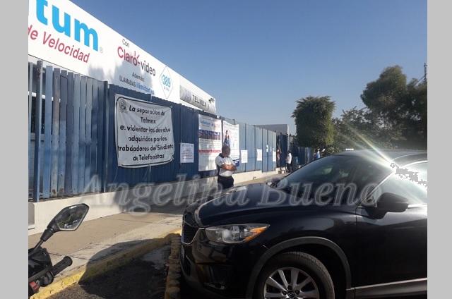 Trabajadores de Telmex Atlixco se suman al paro nacional