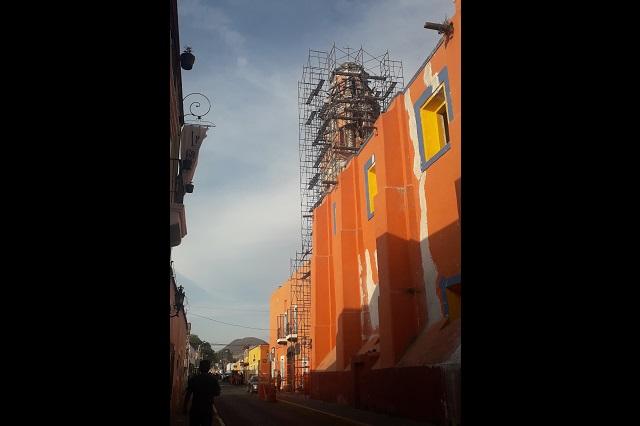 A dos años y medio inicia restauración en templos de Atlixco