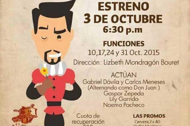 Este fin de semana se estrena Don Juan Tenorio y unos cuantos