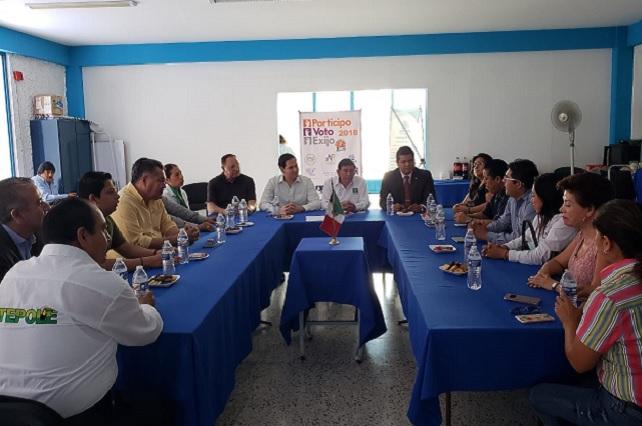 Se reúnen Tepole y Kuri con socios de Coparmex Tehuacán