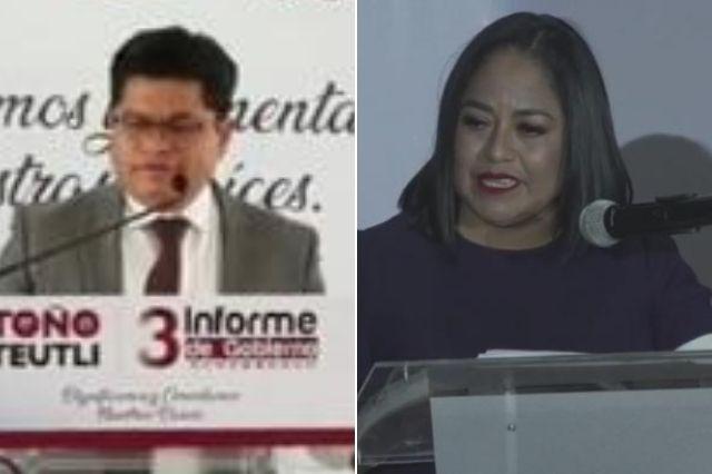 Lupita Daniel y Antonio Teutli rinden su último informe