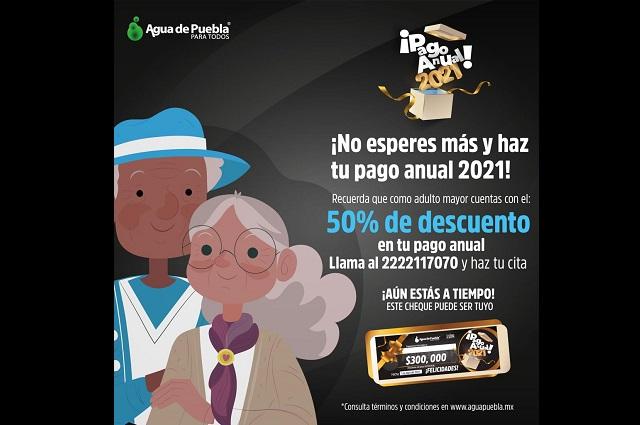 Agua de Puebla atenderá a domicilio a los adultos mayores