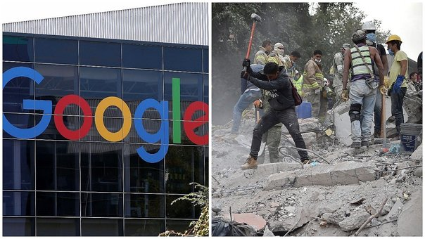 Google donará 1 millón de dólares por el sismo en México