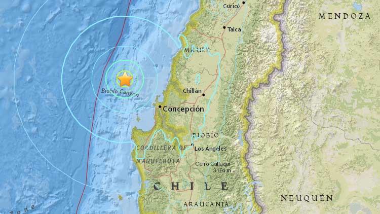 Un terremoto de 6.4 grados sacude 7 regiones del centro y sur de Chile