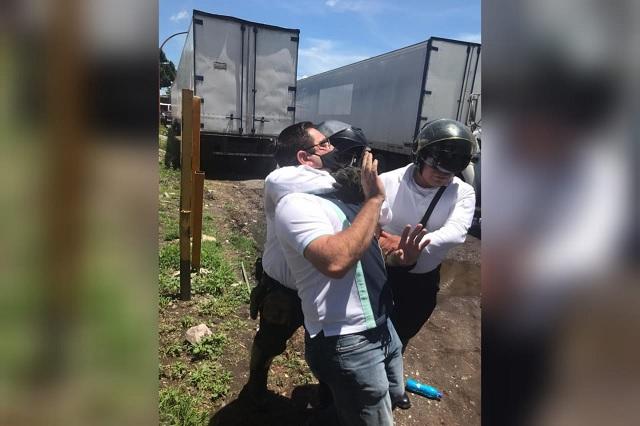 Policías de Texmelucan agreden a hijos del ex edil José Domínguez