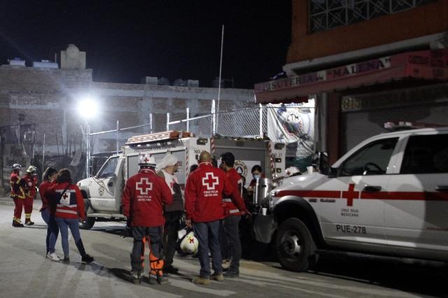 Concluye rescate de cuerpos en obra de Texmelucan