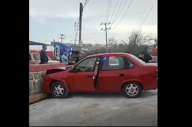 Hombre alcoholizado atropella a agente vial en Teziutlán