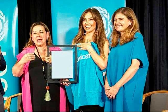 Thalía es nombrada embajadora de buena voluntad de UNICEF México