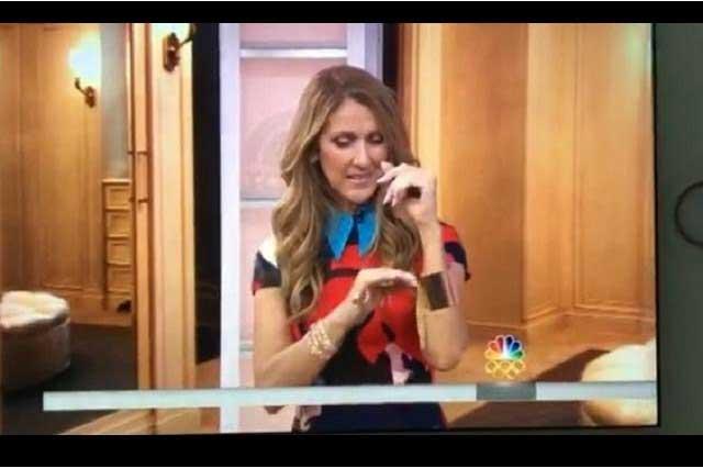 Celine Dion modela la joyería de Thalía