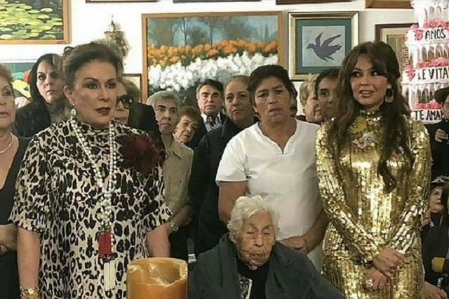Thalía revela algunos detalles del encuentro con su abuela