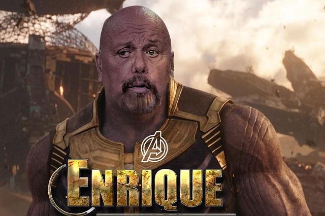 Perro que reta, cumple: Enrique Bermúdez y su foto de Thanos