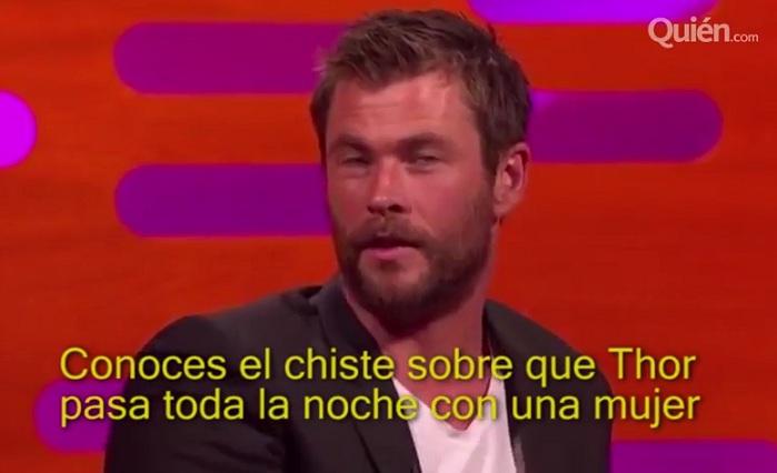 Chris Hemsworth cuenta chiste sucio usando a Thor