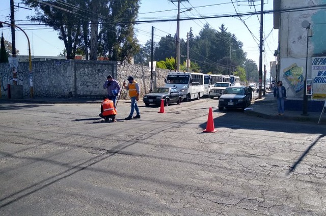 Agua de Puebla rehabilita red de drenaje sanitario en El Porvenir