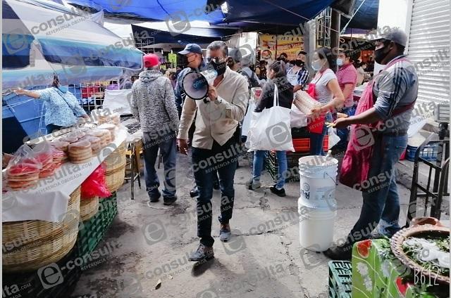 Cumplen suspensión de tianguis este martes en Atlixco