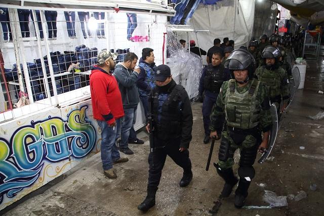 Tras riña toma Guardia Nacional control del tianguis de Texmelucan