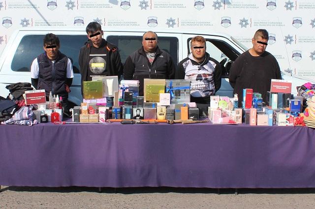 Cae banda que robaba en tiendas departamentales de Puebla
