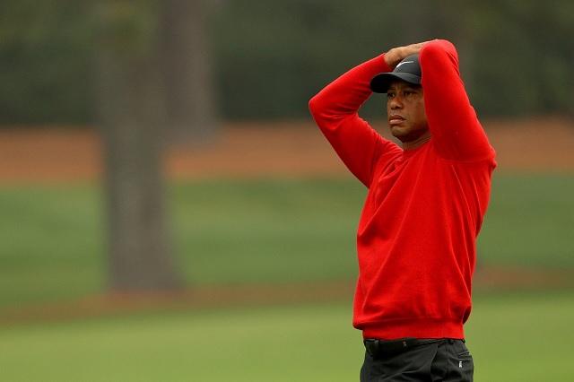 Tiger Woods, frustrado por el peor hoyo de su carrera como golfista