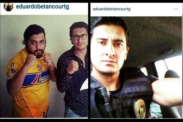 Policía se toma foto con sujeto que participó en la campal Tigres-Santos