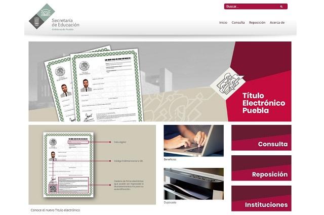 Regresa plataforma para tramitar títulos electrónicos en Puebla
