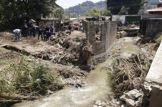Peligran 100 mil personas por lluvias en la Sierra Norte: Sedatu