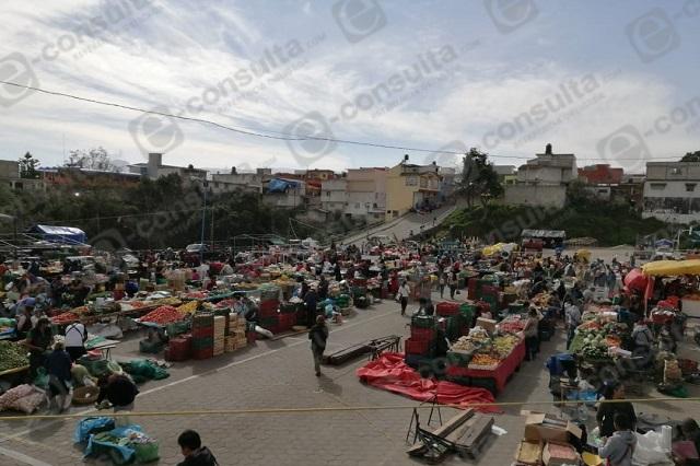 Instalan tianguis a partir del 11 de junio en Tlatlauquitepec