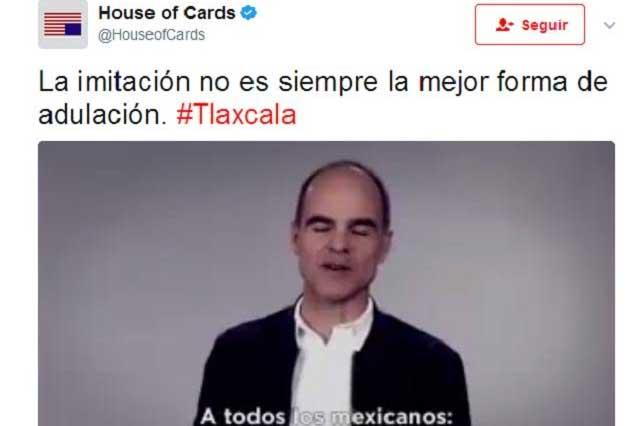 Tengo tu atención Frank, el mensaje de ex edil de Tlaxcala a House of Cards