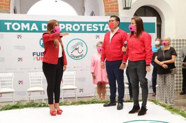 Rinde protesta Xitlalic Ceja como presidenta en Puebla del ONMPRI
